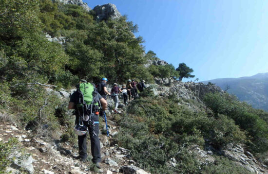 """Hiking in the """"Tempi valley crossing route""""   Via Cordata in the """"Clefts   traverse"""" d84592e0c1f"""
